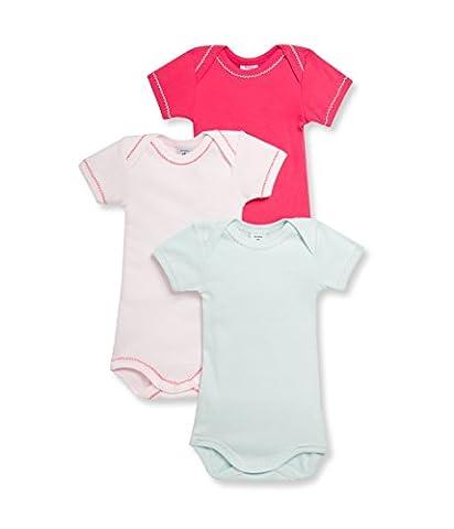Petit Bateau Baby - Mädchen Body 3P MC, 3er Pack, Einfarbig, Gr. 104 (Herstellergröße: 4ans/102cm), Mehrfarbig (SPECIAL LOT 00)