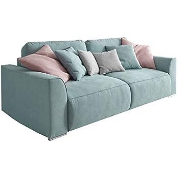 Modernes Design Big Sofa WEEKEND aquamarin Schlaffunktion ...