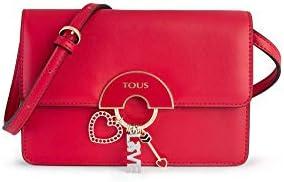 Tous Hold - Bolso Bandolera para Mujer, Rojo, 20 x 13 x 6 cm