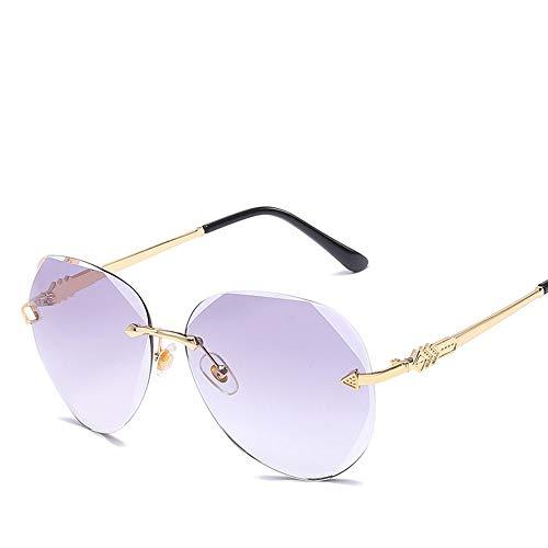 Sport-Sonnenbrille, Polarisierte Mode Sonnenbrillen mit Normalglas UV400 Schutz Vintage Sonnenbrille Für Männer Frauen Multi Farben für Männer Frauen Outdoor-Sportarten ( Farbe : Lila )