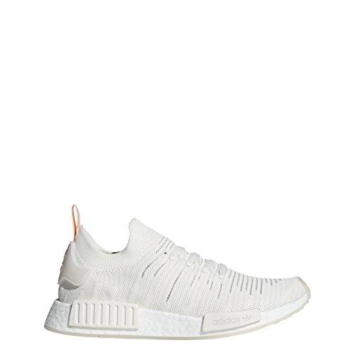 adidas Damen NMD_r1 Primeknit Sneaker, Weiß - Cloud White/Cloud White/Clear Orange - Größe: 36 2/3 EU