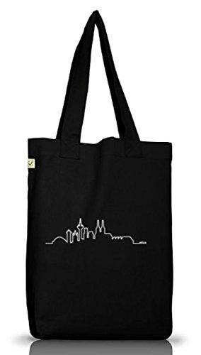 Shirtstreet24, Skyline Köln, Kölle Cologne Jutebeutel Stoff Tasche Earth Positive (ONE SIZE) Black