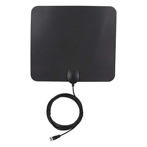 TV-Antenne, DVB-T HDTV-Antenne für den Innenbereich, digital verstärkt, 50 Meile + Reichweite mit 3 m / 10 ft langem Kabel, 1080 P UHF / VHF für lebenslange lokale Kanäle, die für alle Arten von intel