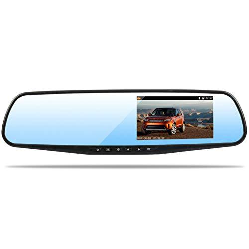 Ben-gi 4.3 '' Doppelobjektiv HD Auto DVR Blau-Spiegel-Digital-Videokamera-Recorder Auto Camcorder Nachtsicht Dash Cam 82 Night Vision