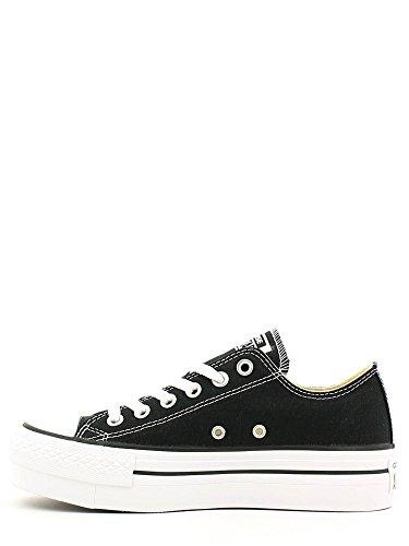 Converse A/S Ox Platform Canvas, Sneakers Hautes Femme Noir (Black)
