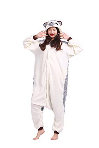 Magicmode Unisex Cartoon Tier Kigurumi Pyjamas Cosplay Kostüm Erwachsene Kapuzen Strampelanzug Party Anime Nachtwäsche Igel XL