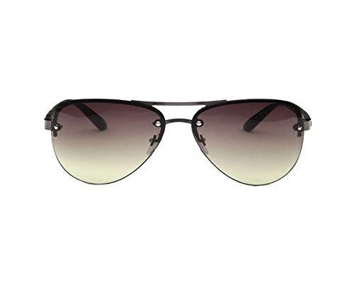 WSKPE Sonnenbrille,Sommer Pilot Männer Sonnenbrille Frauen Im Großen Rahmen Fahren Reisen Gläser Uv 400 Schwarzen Rahmen Dunkel Grüne Linse