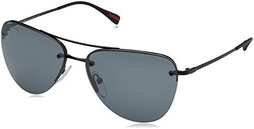 Prada Sport Damen PS53RS Sonnenbrille, Schwarz (Black 7AX5L0), One size (Herstellergröße: 57)