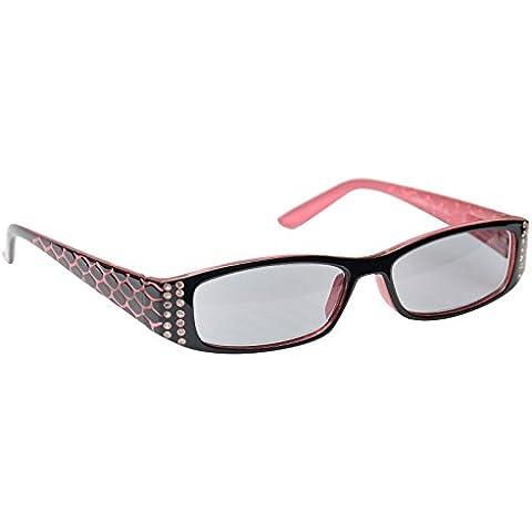 UV Reader Lettori Sole Occhiali da lettura Occhiali da sole da donna rosa UVSR001+ 2.00mondo Eye Wear