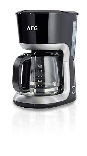 AEG Kaffeemaschine PerfectMorning KF3300 (1080 Watt, 1,5 Liter, Wasserstandsanzeige, Antitropf-Ventil, Warmhaltefunktion) Schwarz/Silber