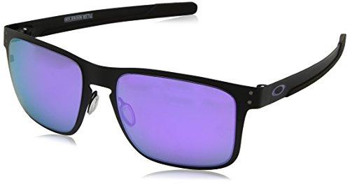 Oakley Herren Holbrook Metal 412314 Sonnenbrille, Mehrfarbig (Matte Black), 55