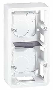 Legrand LEG80282 Cadre pour 2 modules montage vertical profondeur 40 mm Mosaic