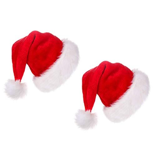 Funhoo Cappello da Babbo Natale Peluche per la Maggior Parte degli Adulti 1ac54f479b47