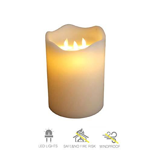 15CM Großer Durchmesser LED Schwingen Elektronisches Kerzenlicht, Flammenloses Teelicht, Hochzeit, Geburtstag, Stab, Dekorative Lichter Des Romantischen Simulationsparaffins,15 * 20cm