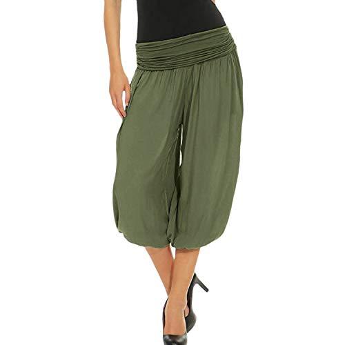 Women's Pants Waist Pants Casual Solid Harem Pants Splice Elastic Band Loose Cargo Pants for Women Green S Obermeyer Womens Ski