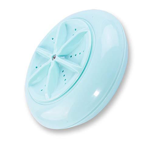 Ultraschall Turbo Miniwaschmaschine-Underware Gemüse Frucht Waschmaschinen-Reiniger bewegliche Reise Studenten Schlafsaal Waschmaschine Turbo Drehwaschmaschine 12.98 * 12.98 * 5.30cm auflädt (Blau)
