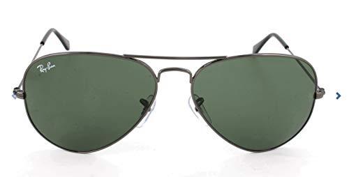 Ray Ban Unisex Sonnenbrille Aviator, Gr. Large (Herstellergröße: 58), Grau (Gestell: grau, Gläserfarbe: grau grün) RB 3025