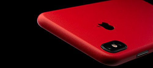 Gadgets WRAP Apple iPhone X Luxury Red Matte Skin for Back & Sides -CO-