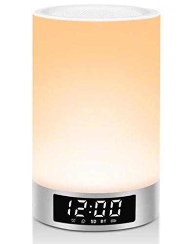LED Touch Nachttischlampe, Smart Touch Control dimmbare Farbe Nachtlicht, tragbare Tischlampe, Geschenke für Frauen Männer Jugendliche Kinder Kinder schlafen Hilfe