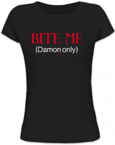 ME (Damon Only), Vampir Vampire Lady / Girlie Funshirt Fun T-Shirt, Größe: M,schwarz ()