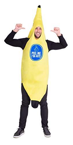 Minion Kostüm Verkleiden - Folat 21950 Bananenkostüm Bananen Anzug, gelb, One Size