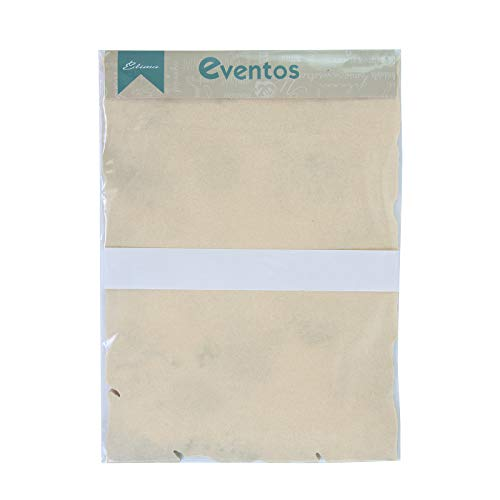 Edima 100045-B - Pergamino A4, papel papiro con bordes, 25 unidades