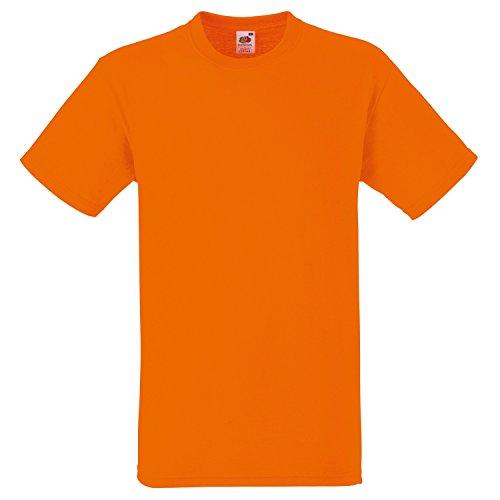 Fruite of the Loom Heavy T-Shirt, vers.Farben Orange