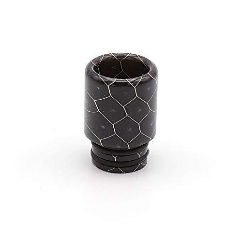 EzVapor 510 Drip Tip Schwarz Black | Driptip aus Harz Material Resin | 510er Drip Tip Bienenwaben Muster
