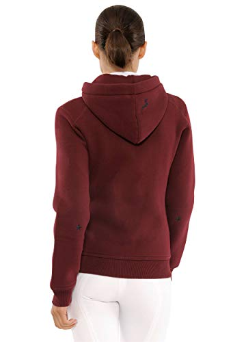 SPOOKS Damen Sweatjacke, Kapuzen-Jacke Mädchen Kinder Frauen - Awa Jacket Bordeaux S - 4
