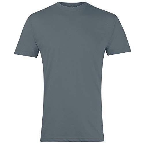 Authentische American Apparel (American Apparel AA002 T-Shirt mit Rundhalsausschnitt, Polycotton, unifarben Gr. L, Asphalt)