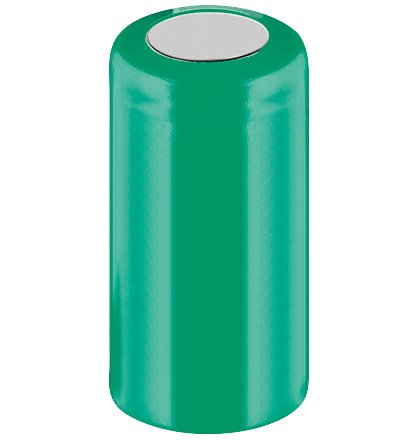 Wentronic Accu Ni-MH Nickel-Metal Hydride 1.2 V Non-Rechargeable Battery - Non-Rechargeable Batteries (Nickel-Metal Hydride, Cylindrical, 1.2 V, 650 mAh, Green, 28 mm)