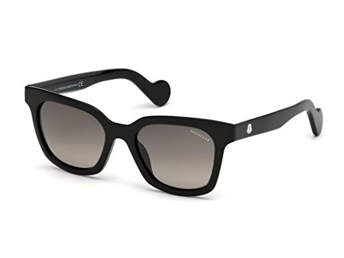 MONCLER Unisex Adults' ML0040 01A 50 Sunglasses, Black (Nero Lucido/Fumo)