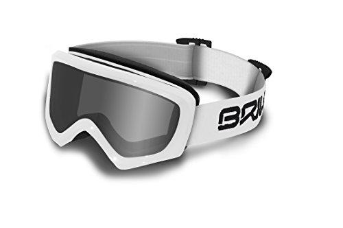 Briko Caldera – Masque de ski unisexe, blanc, Taille unique