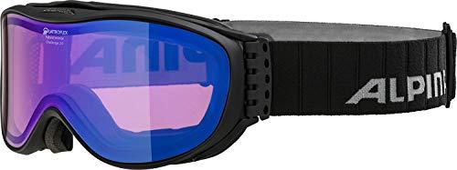 Alpina Erwachsene Skibrille Challenge 2.0 QM Black matt, One Size