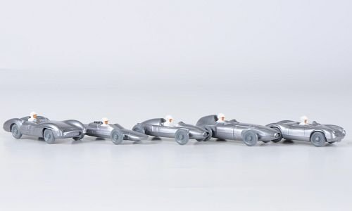 Set W-V-M Themenset: Rennwagen - Vanwell. Lotus, Porsche, Cooper und Mercedes, Modellauto, Fertigmodell, Wiking / PMS 1:87