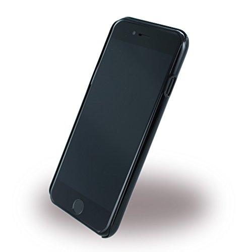 Ferrari FERCHCP7SI Hart Schutzhülle für Apple iPhone 7, Carbon Fiber Gebürstetes Aluminium silber schwarz