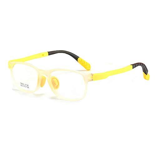 YHMC Zweifarbiger Netter Kinderglasrahmen Grüner Silikonkasten-Schülerglasrahmen G