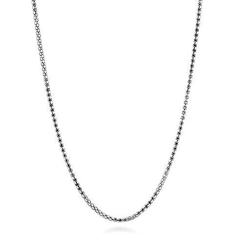 Italiano BERRICLE de plata de ley y collar de cadena de palomitas de 1 mm