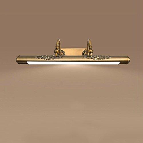Lampada da specchio biutefang faro orientabile europeo a specchio retro led per bagno mobile da bagno luci per armadietti a specchio americano lampade a specchio nordico trucco comò lampada 60cm 11w