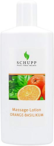 Schupp Massage-Lotion Orange-Basilikum 1L (parafinfrei), orange