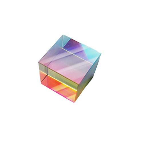 ILYPRO Prisma Würfel Optik Glas Kristallprisma Glasprisma für Fotografie Physik Wissenschaftsunterricht Regenbogenprisma Optik-glas