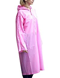 27af938f51b329 DianshaoA Durchscheinend Regenmantel Regenponcho Regencape Regenjacke Für  Damen Und Herren…