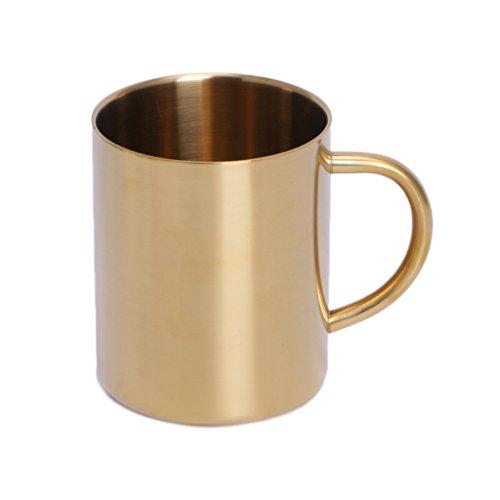 KINTRADE Gold/Messing überzogene Edelstahl Double Wall Becher Tasse für Wein & Tumbler Kaffee Gold (mit Gold plattiert)