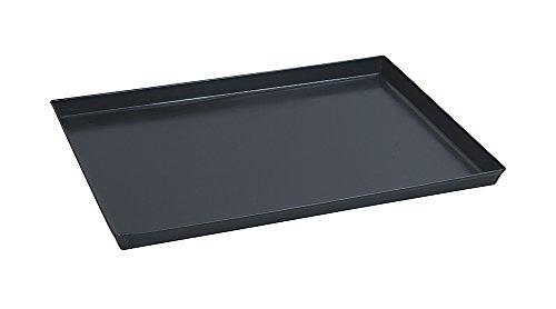Paderno 41745-40 Teglia Rettangolare in ferro blu - Stampo da forno antiaderente, bordi alti, utilizzabile come vassoio, 40 x 30 cm, Altezza 3 cm