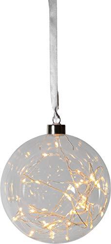 "Best Season""""Glow"" Glaskugel mit 40 warmwhite LED, ca. 15 cm Ø, Glas, Transparent, 1.5 x 1.5 x 1.6 cm"
