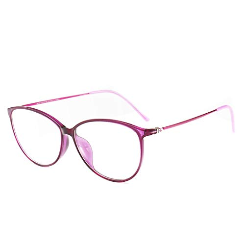Limeinimukete Brillengestell mit dünnem Rahmen, Unisex, Nicht verschreibungspflichtige Brille für Damen und Herren violett