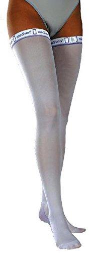 mediven Thrombexin 18mmHg Calzas longitud del muslo medias de compresión, tamaño mediano, 1par