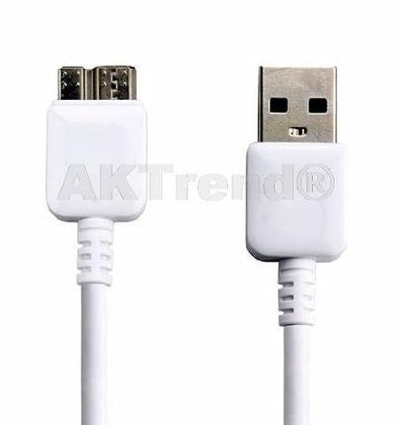 Original AKTrend® Premium USB Ladekabel Datenkabel für Samsung Galaxy Tab Pro 12.2 / Galaxy Note Pro 12.2/ Galaxy S5 / Note 3 N9000 N9005 N9002 und weitere Geräte mit Micro USB 3.0 Farbe in
