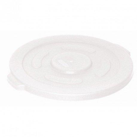 Vogue Gg796 rond Conteneur poubelle à couvercle, grande, Blanc,
