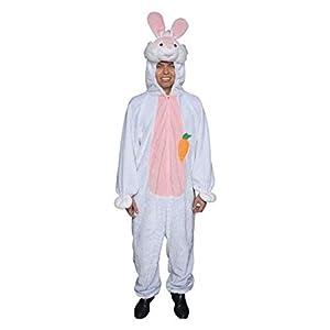 Dress Up America Traje de Mascotaa de Conejito de Pascua Felpa Adulto Blanco
